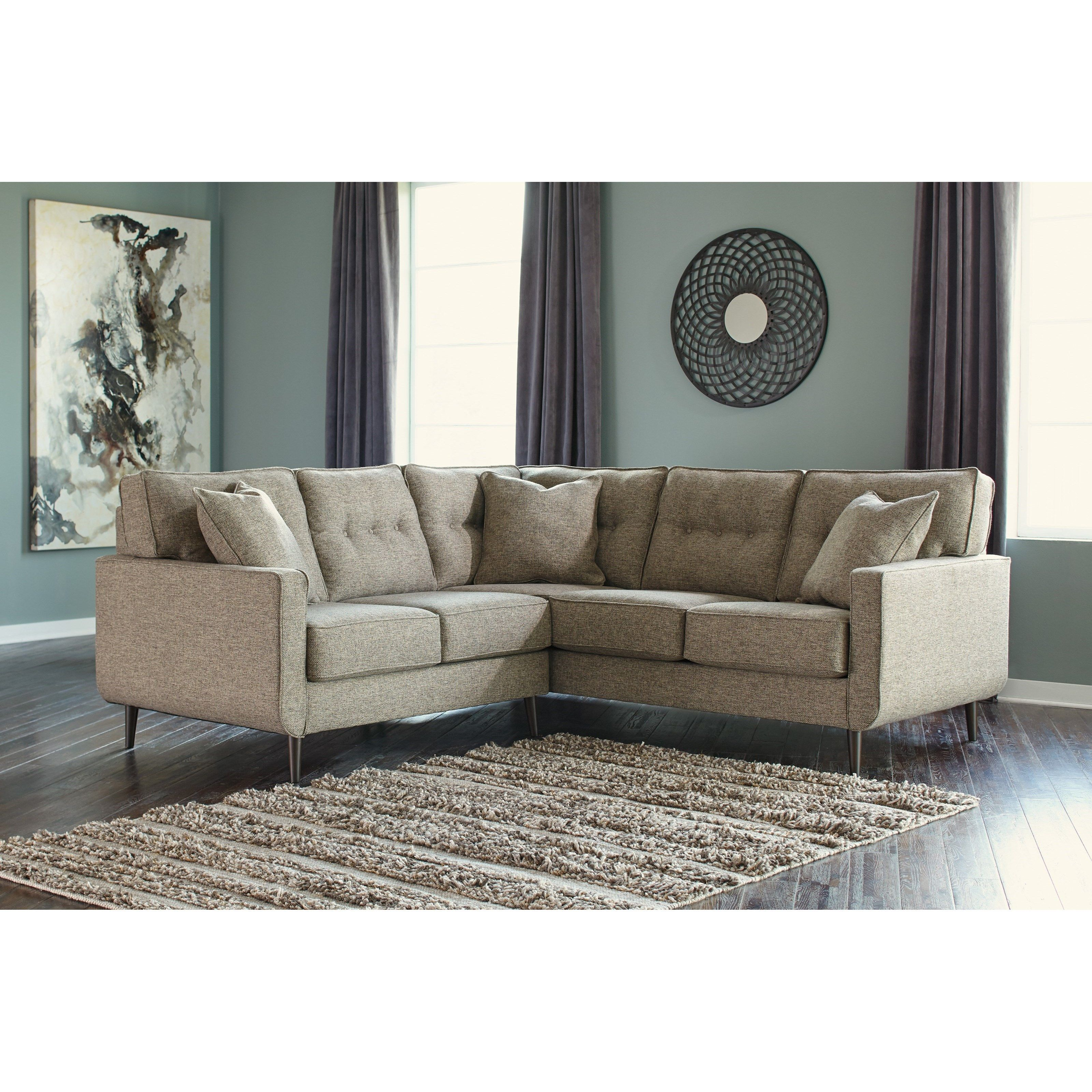 Dahra Mid-Century Modern 2-Piece Sectional by Benchcraft in 2019 ...