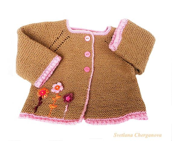 8349c4575 Knitted baby cardigan Knit baby sweater by Svetlanababyknitting ...