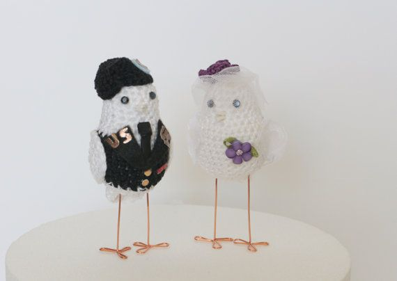 Wedding Birds cake topper military  Military Cake by MAVECROCHET #militarywedding# #militarycaketopper#