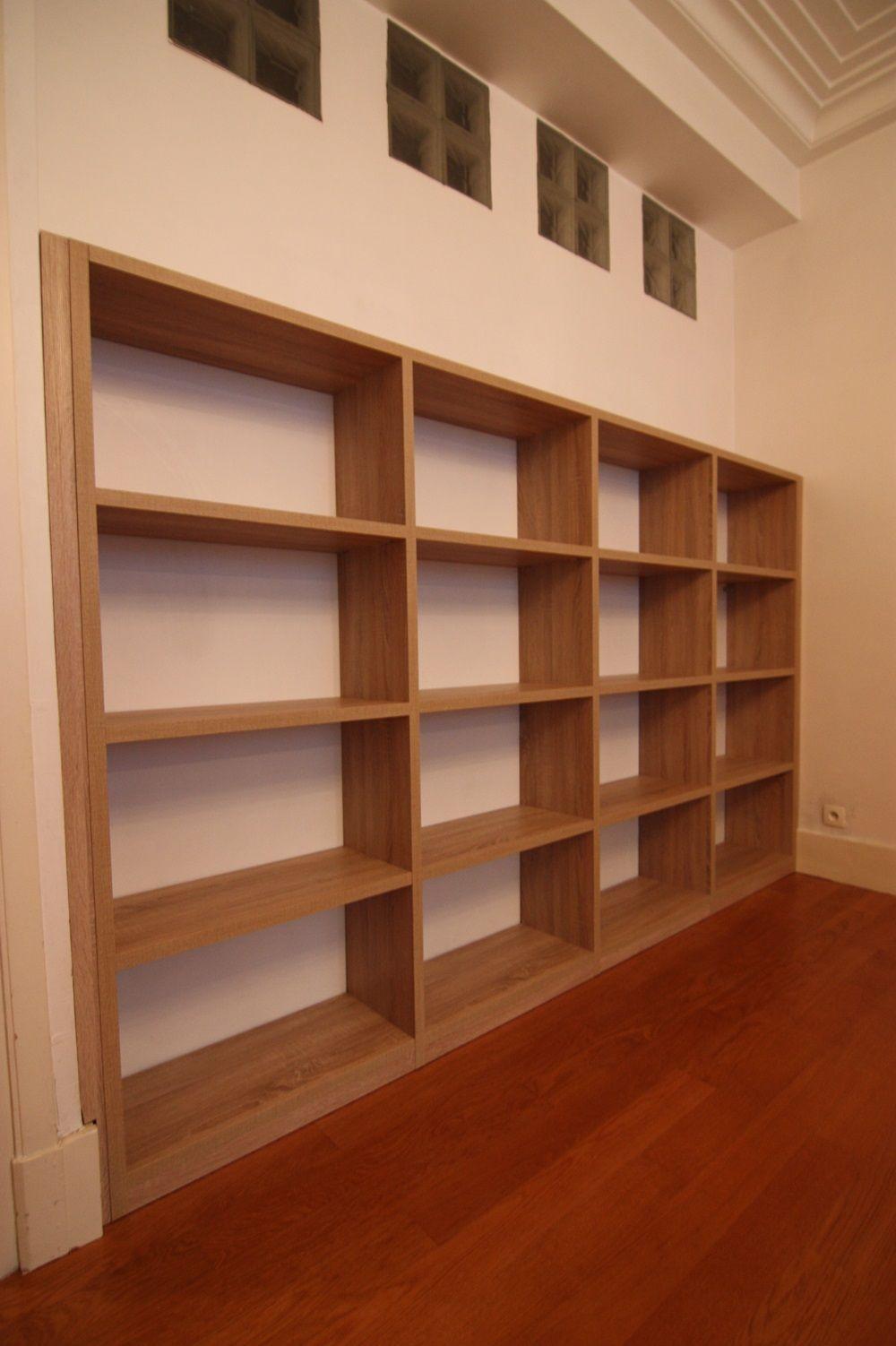 Bibliotheque sur mesure grenoble muebles en 2019 bibliotheque sur mesure rangement sur - Placard mural sur mesure ...
