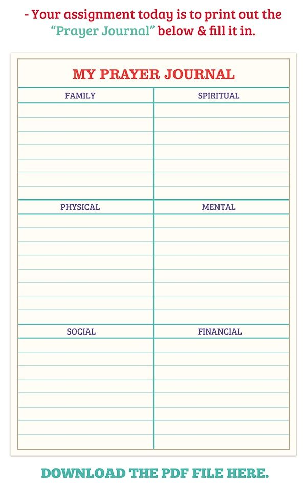 It is an image of Irresistible Free Printable Prayer Journal Template