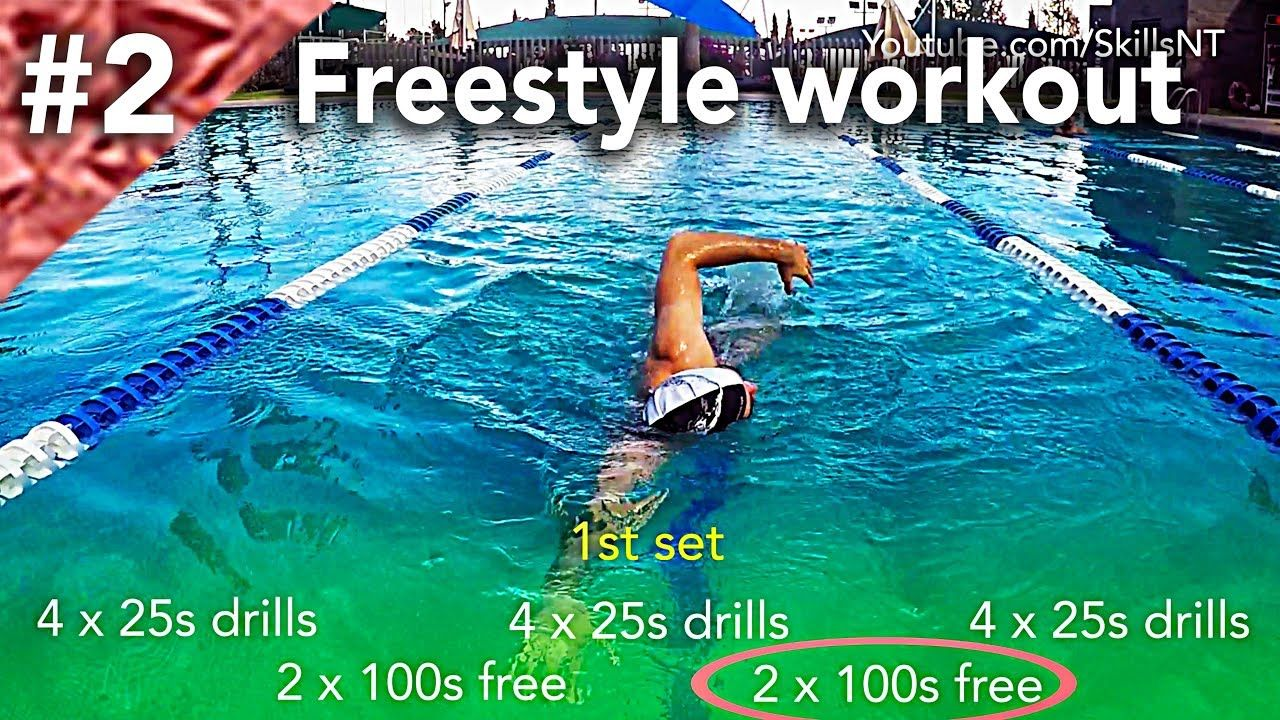 Freestyle swimming workout 2 technique distance per