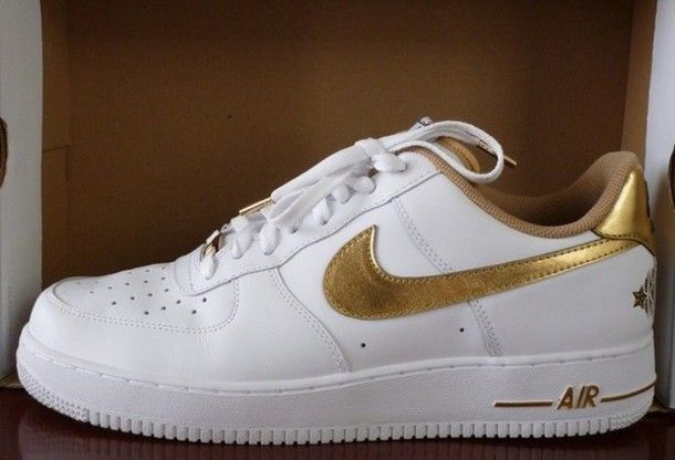 Nike Air Force 1 Low CR7 White Gold AQ0666 100 Womens Men's