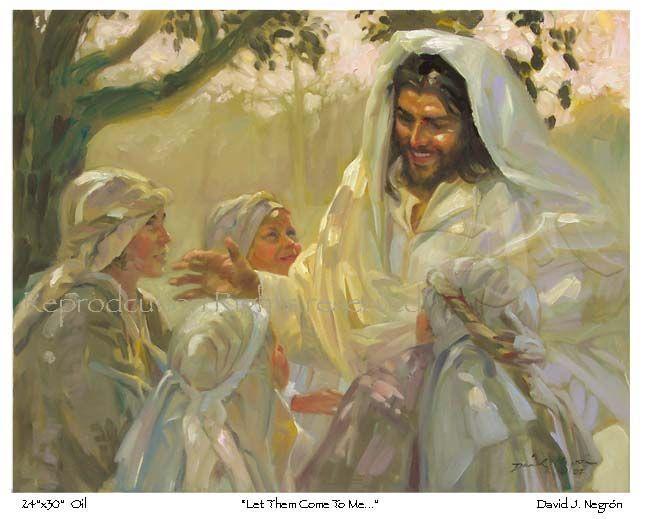 paintings of jesus christ | Children, Jesus, Christian, Art ...
