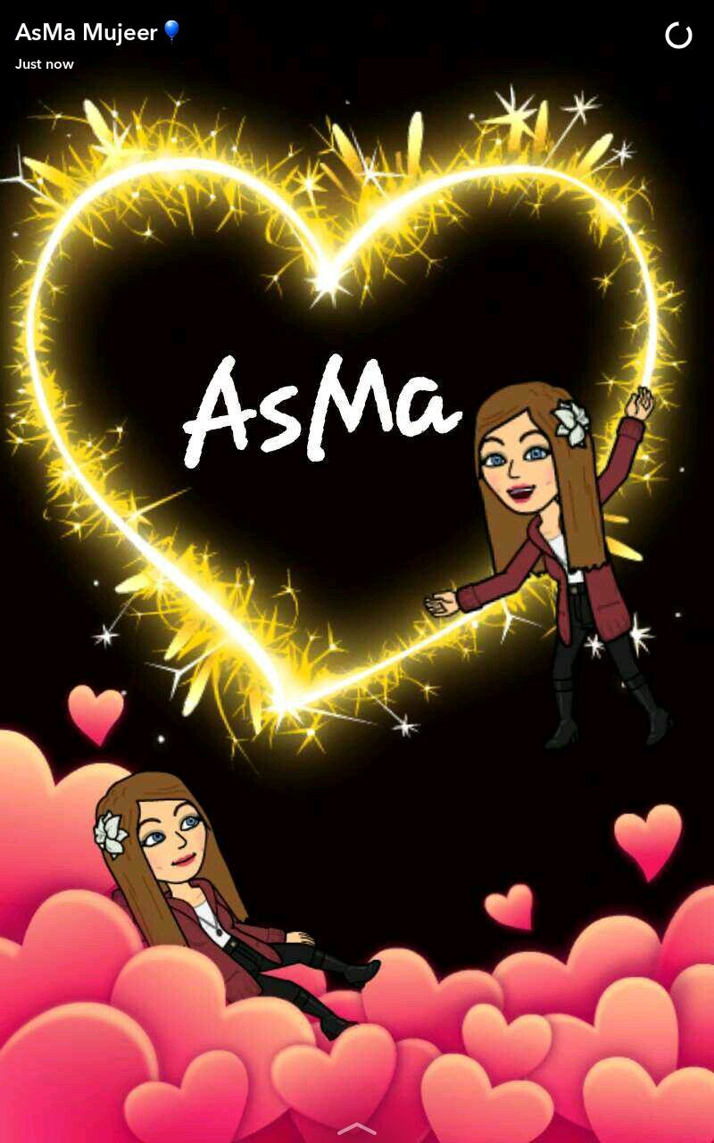 AsMa Name Wallpaper Snapchat Quotes Stories Names