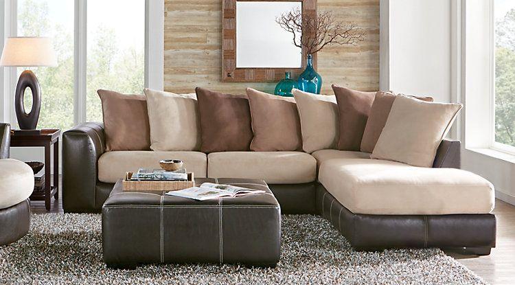 Gregory Beige 2 Pc Sectional furniture Pinterest Living room