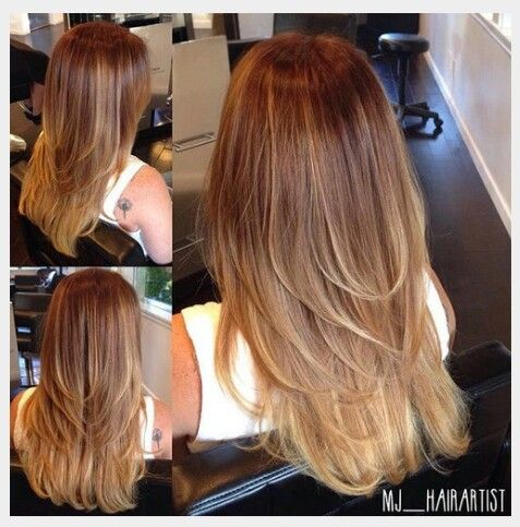 For Fine Thin Hair Layering For Movement And A Gentle Ombre To Make The Layered Pieces Pop So Pretty Long Thin Hair Thin Hair Haircuts Long Layered Haircuts