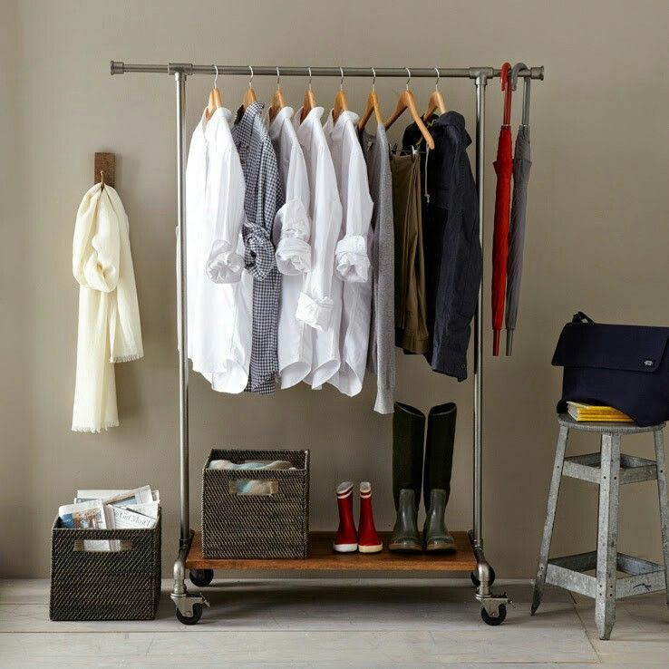 Like The Look Of Outside Closet Clothes Rack Design Clothing Rack Storage Solutions Closet