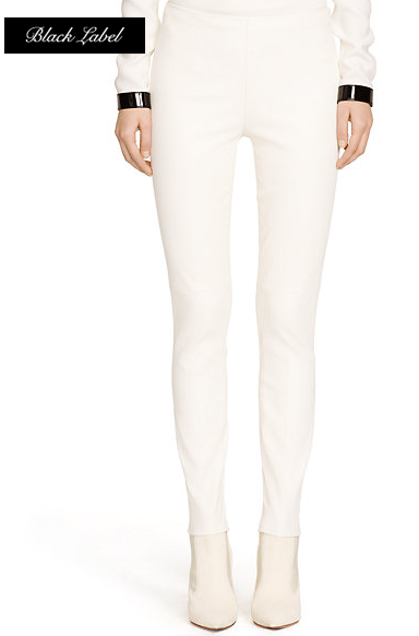STRETCH-LEATHER ABBEY PANT from Ralph Lauren