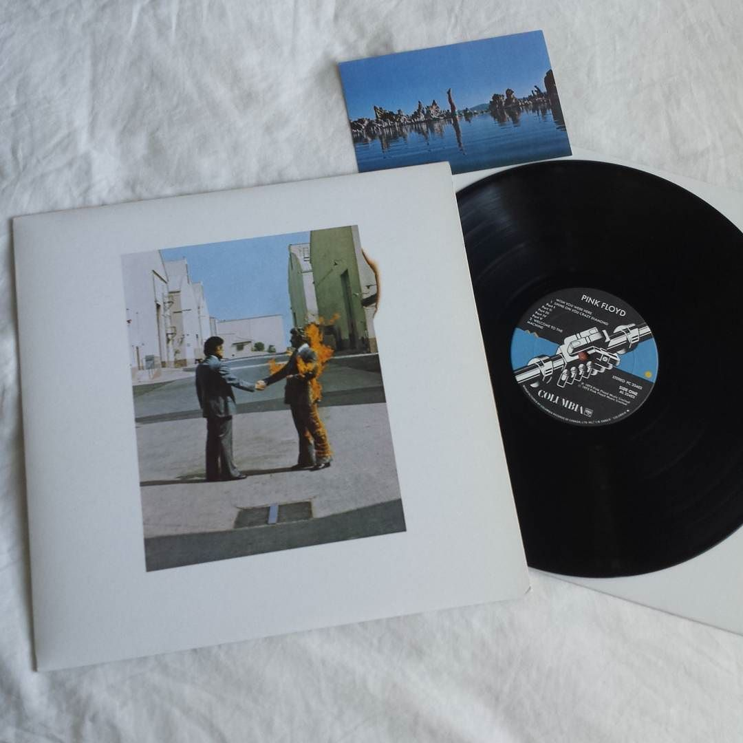 Mitchell T On Instagram Pink Floyd Wish You Were Here 1975 Canadian Pressing With Postcard Another Top 10 Pick Of Mine A Perfect Pink Floyd Floyd Pink