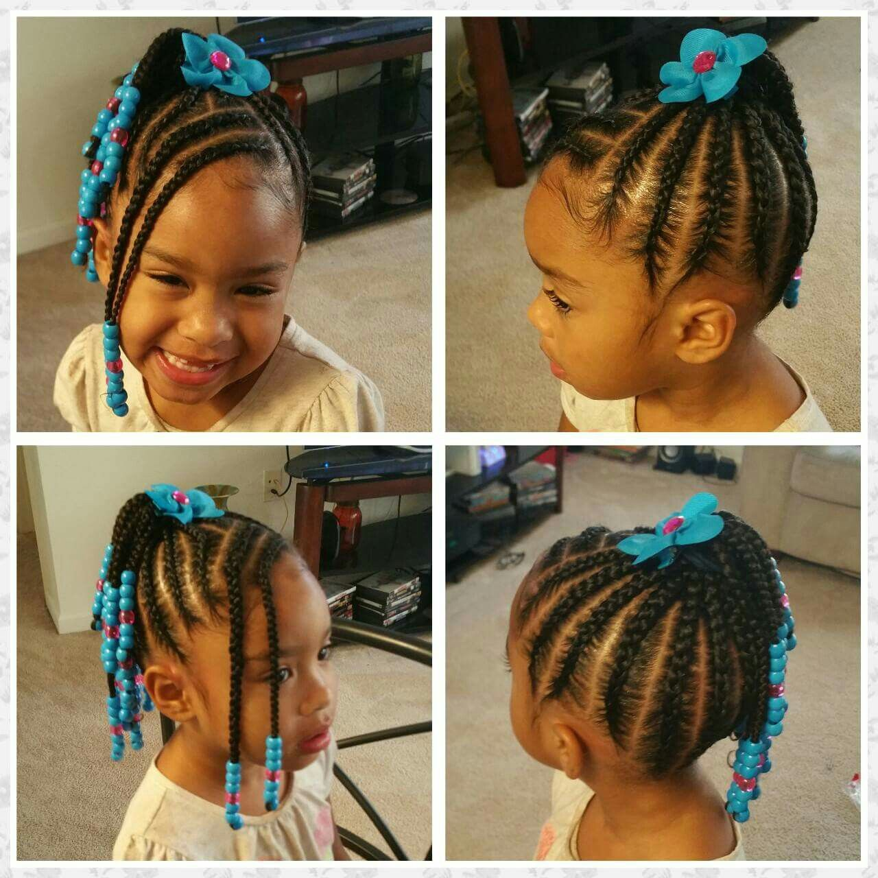 Beautiful Braided Childs Hair Style With Braided Bangs Kids Braided Hairstyles Hair Styles Kids Hairstyles