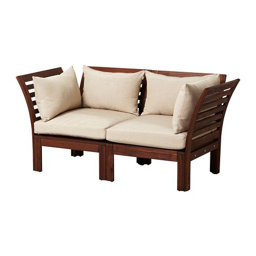 ÄPPLARÖ Sofakombinasjon - brun/beige - IKEA