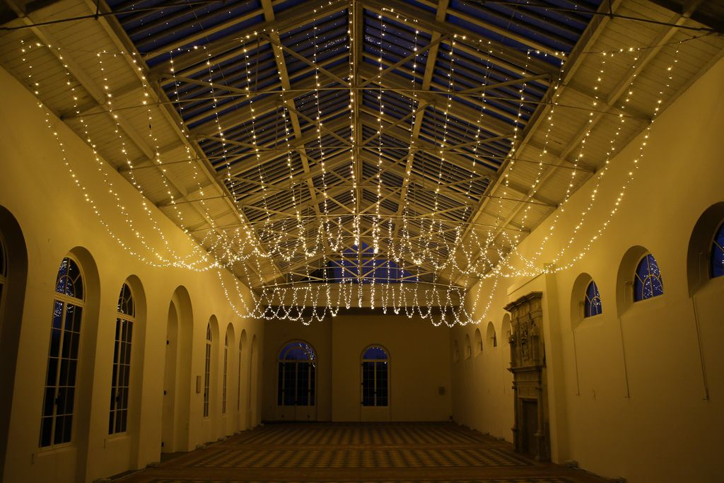 Fairy Light Canopy Hanging Fairy Lights From A Ceiling For A