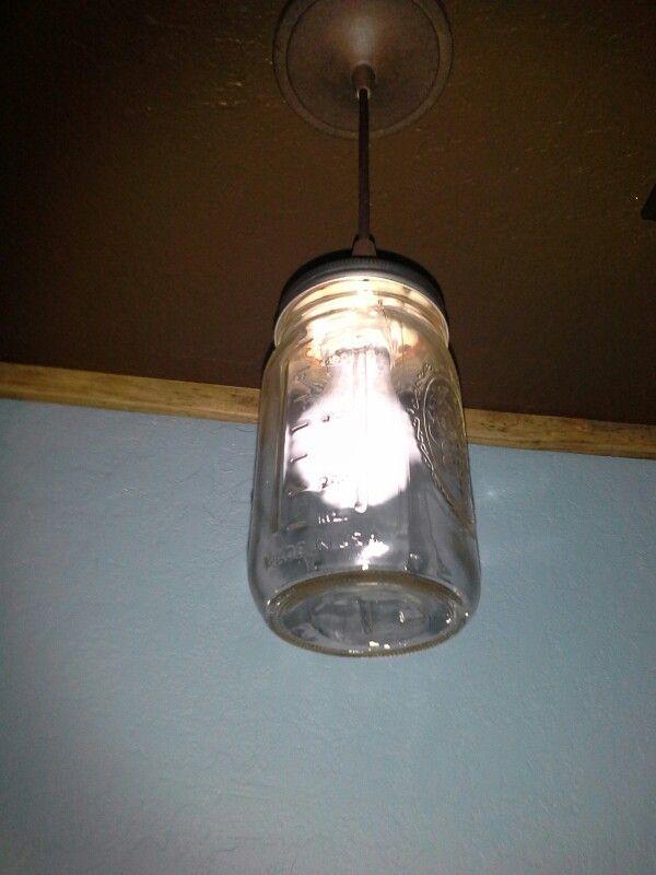 Mason jar pendant light. Lowes: Portfolio bronze pendant light kit ...