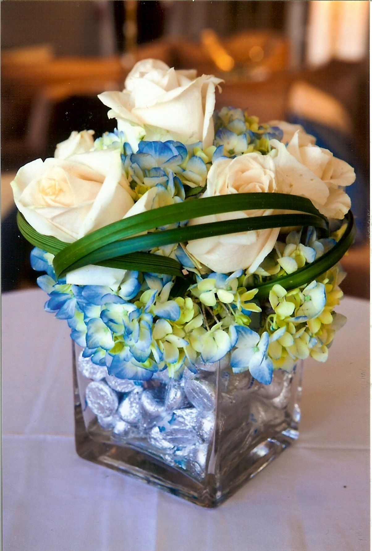 Candy Filled Vases Centerpieces : Peace love and chocolate theme bat mitzvah centerpiece the