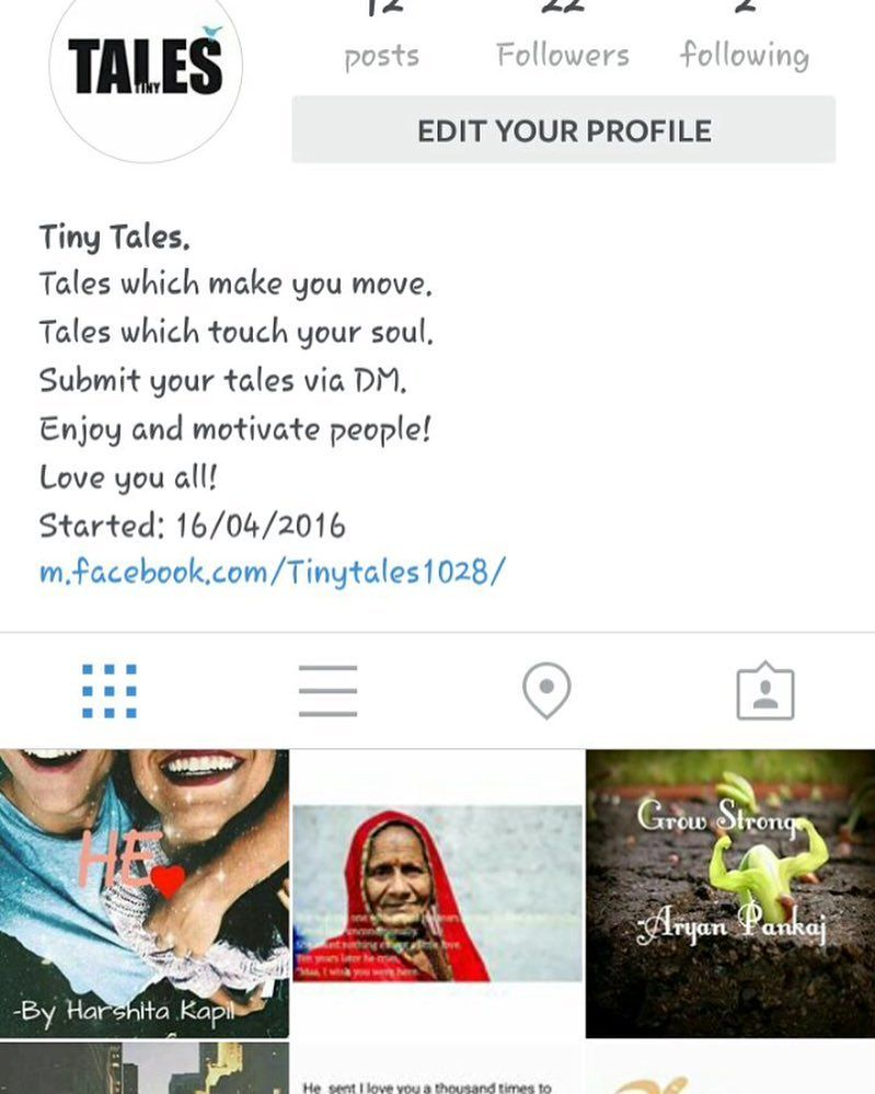 A page for reading lovers For the tales which make you move. For the tales which touch your soul. Follow the one and only. Tiny Tales. Instagram : @tiny_tales1028 @tiny_tales1028 Check facebook link in Bio : http://ift.tt/1XGtIGq