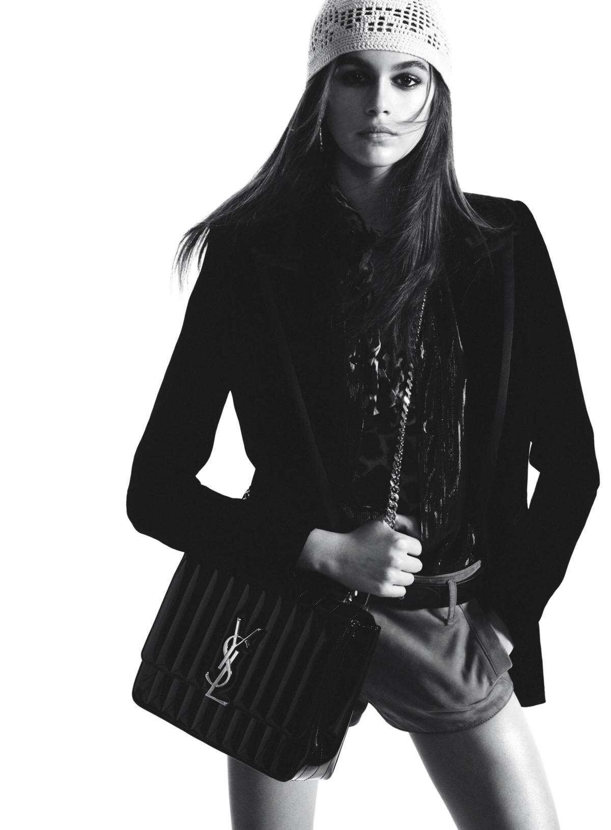 cf3bb0f3c1 YSL SAINT LAURENT Kaia Gerber stars in Saint Laurent s Fall 2018 campaign.  Photographed by David Sims