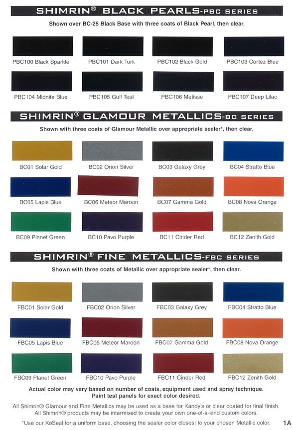 House Of Color Paint Chips House Of Kolor Custom Paints For Custom Cars And Automotive Painters Gas Tank Paint Car Paint Colors Custom Paint