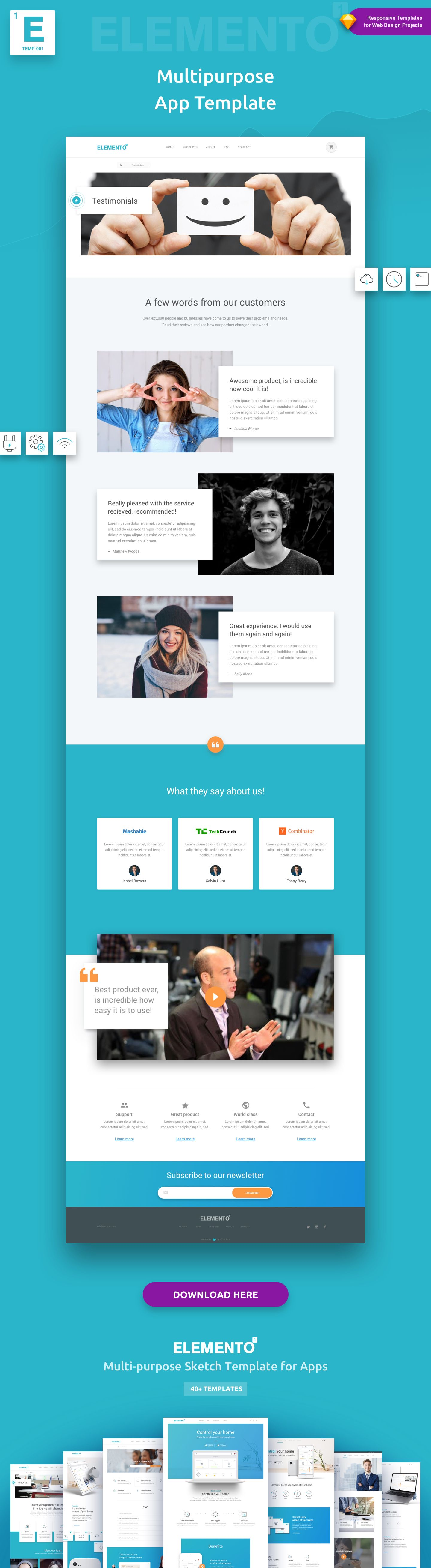 ... Is A Versatile/multi Purpose Sketch Template Composed Of 40+ Flexible  Ready To Use Pages, Structured To Help Jump Start Your Next Web Design  Project.