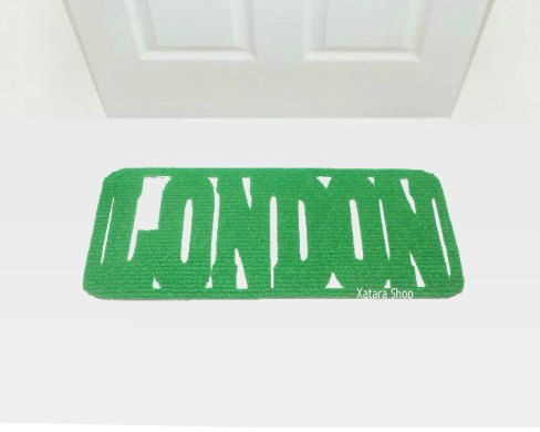 London Welcome Mat Country Front Door Decor Your Entry Customizable Welcome Mats Floor Mats Etsy