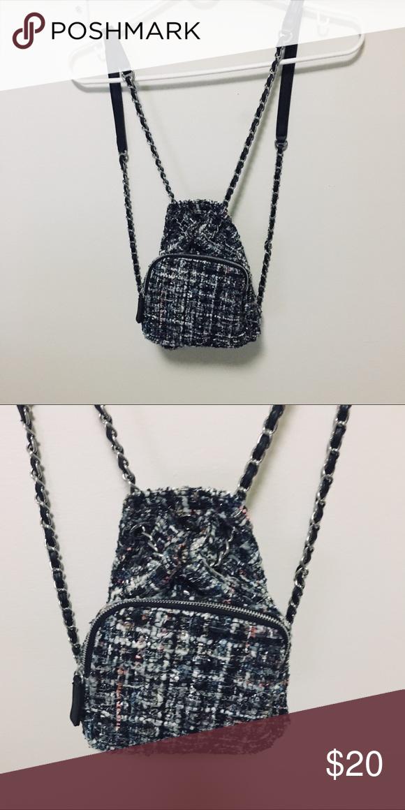6b6b988d2a ZARA Quilted Mini Backpack Mini chain quilted backpack. Zara Bags Backpacks