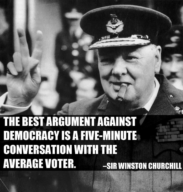 Citaten Over Democratie : Quot the best argument against democracy winston