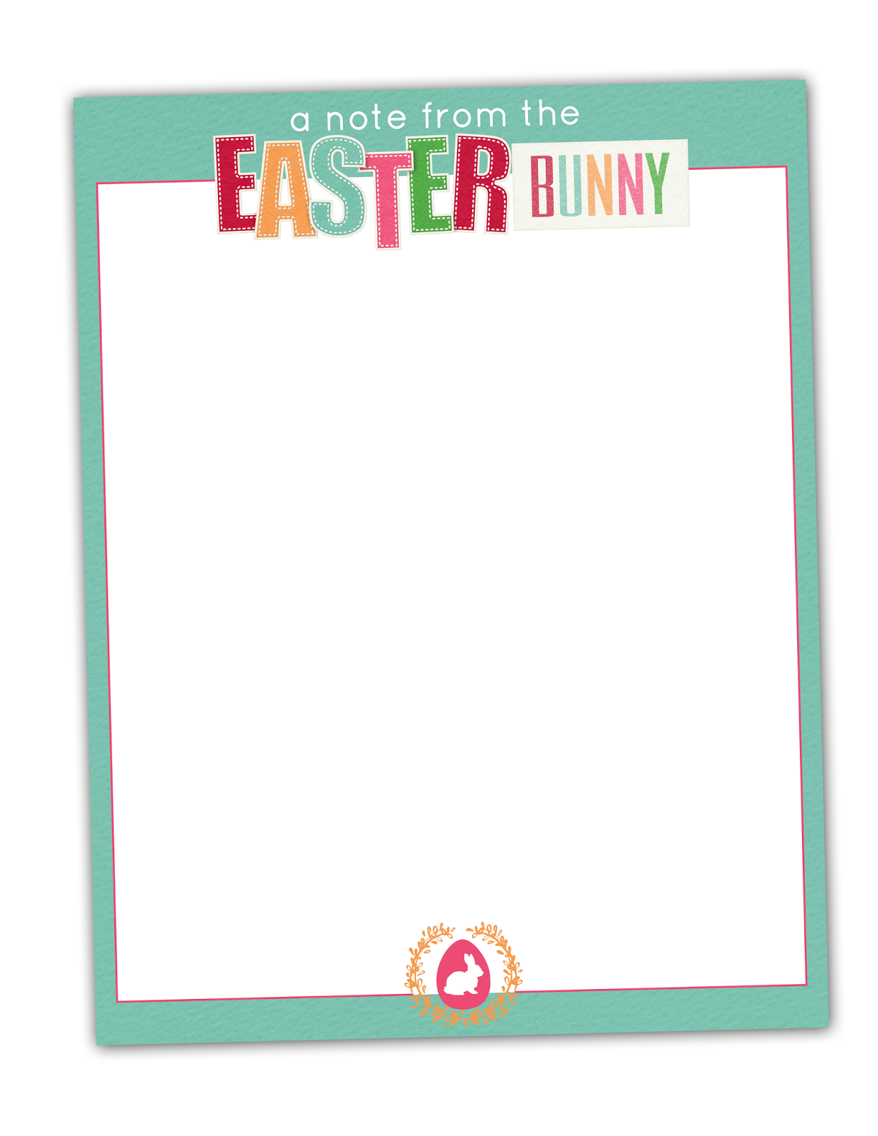 graphic relating to Easter Stationery Printable called Absolutely free Printable Easter Bunny Stationary by means of MK Styles