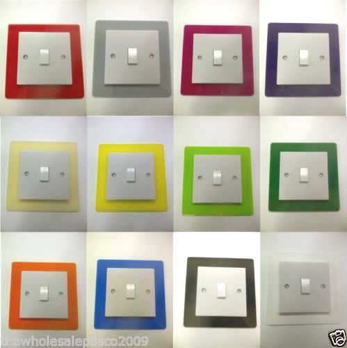 Details About Single Switch Surround Coloured Acrylic