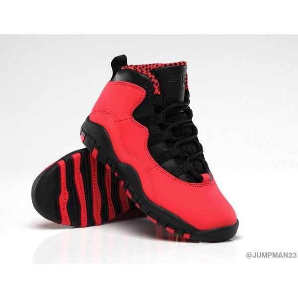 28450201169c ... italy heads up air jordan 10 fusion red releases 10 19 liked on  polyvore featuring shoes