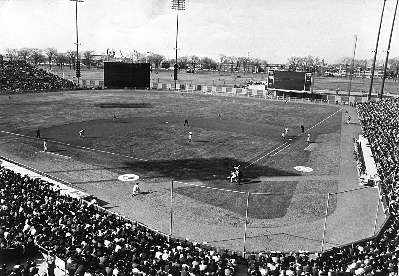 Jarry Park Opening Day April 14 1969 Montreal Quebec Baseball Park Expos Mlb Stadiums
