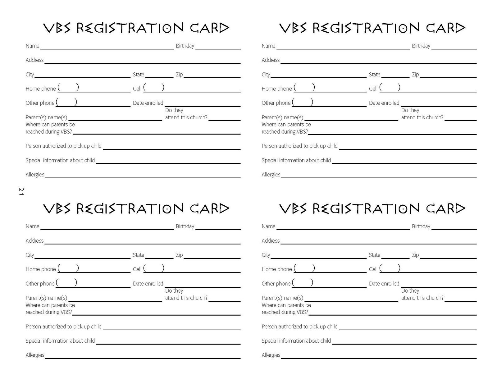 Doc12751650 School Registration Form Template Doc736952 – Sample School Registration Form