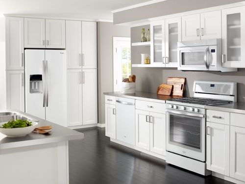 White Kitchen Stainless Appliances white glass whirlpool appliances - kitchen of the year | kitchen