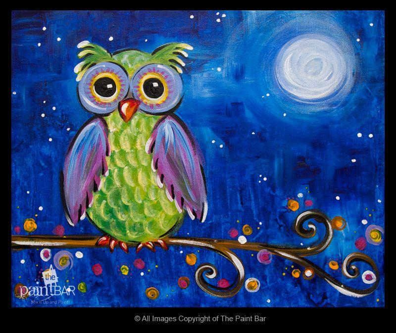 Midnight Owl www.thepaintbar.com