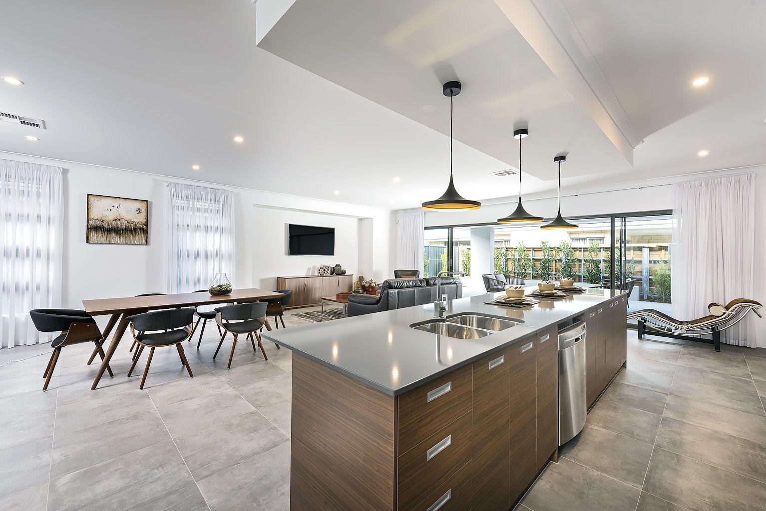 A Bulkhead Over The Kitchen Creates A Sense Of Depth And