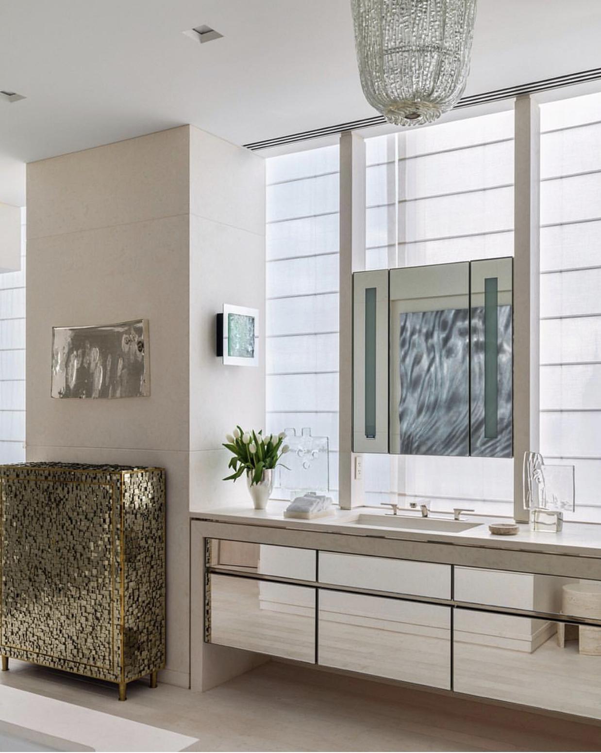 mirrored bath vanity | New york central, Central park ...