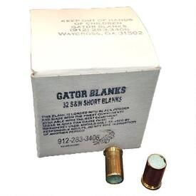 Gator Blanks  32 S&W Black Powder Blanks 50 Round Box A00011