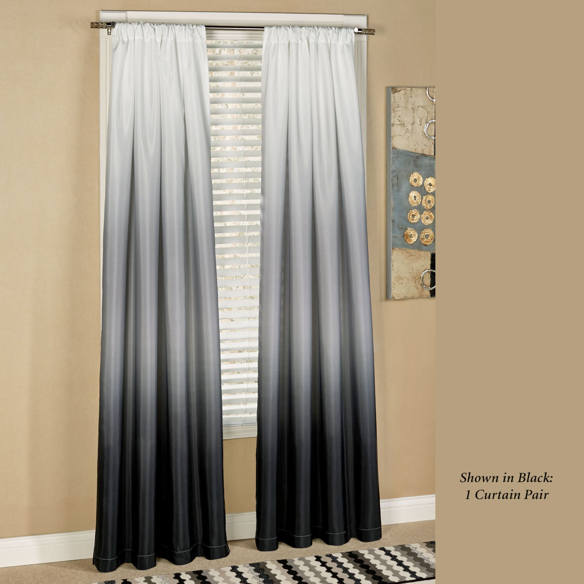 Shades Ombre Curtains | Ombre curtains, Window and Bathroom window ...