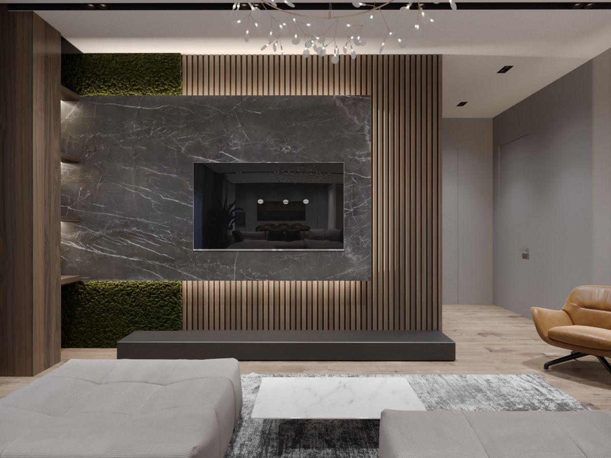 Design Apartment Chelyabinsk On Behance Living Room Tv Unit