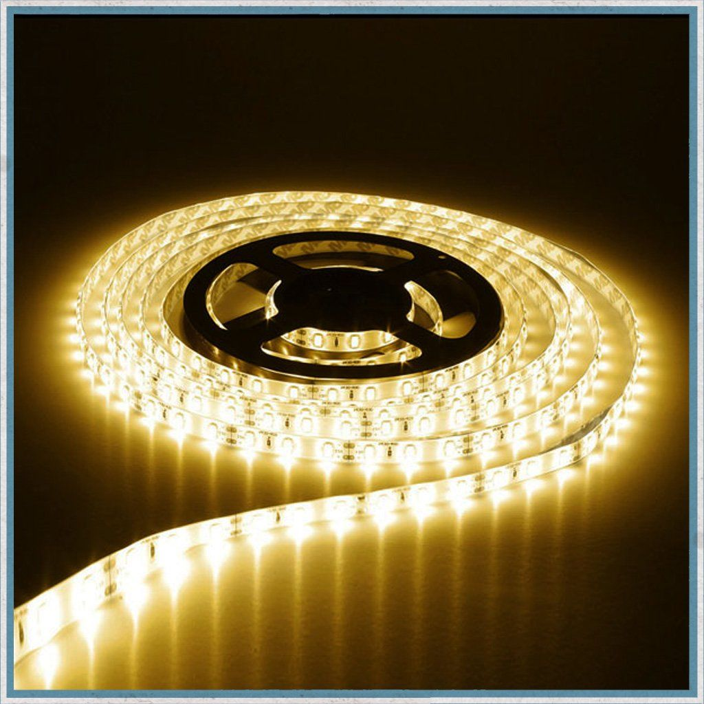 12v Warm White 5 Metre Non Waterproof Led Lighting Strip Waterproof Led Lights Strip Lighting Led Light Strips