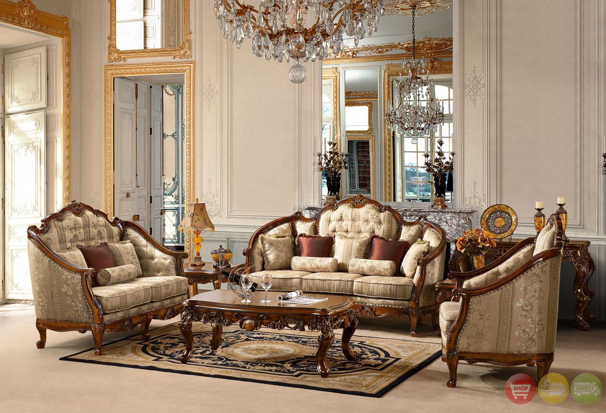 Antique Living Room Furniture antique style luxury formal ...