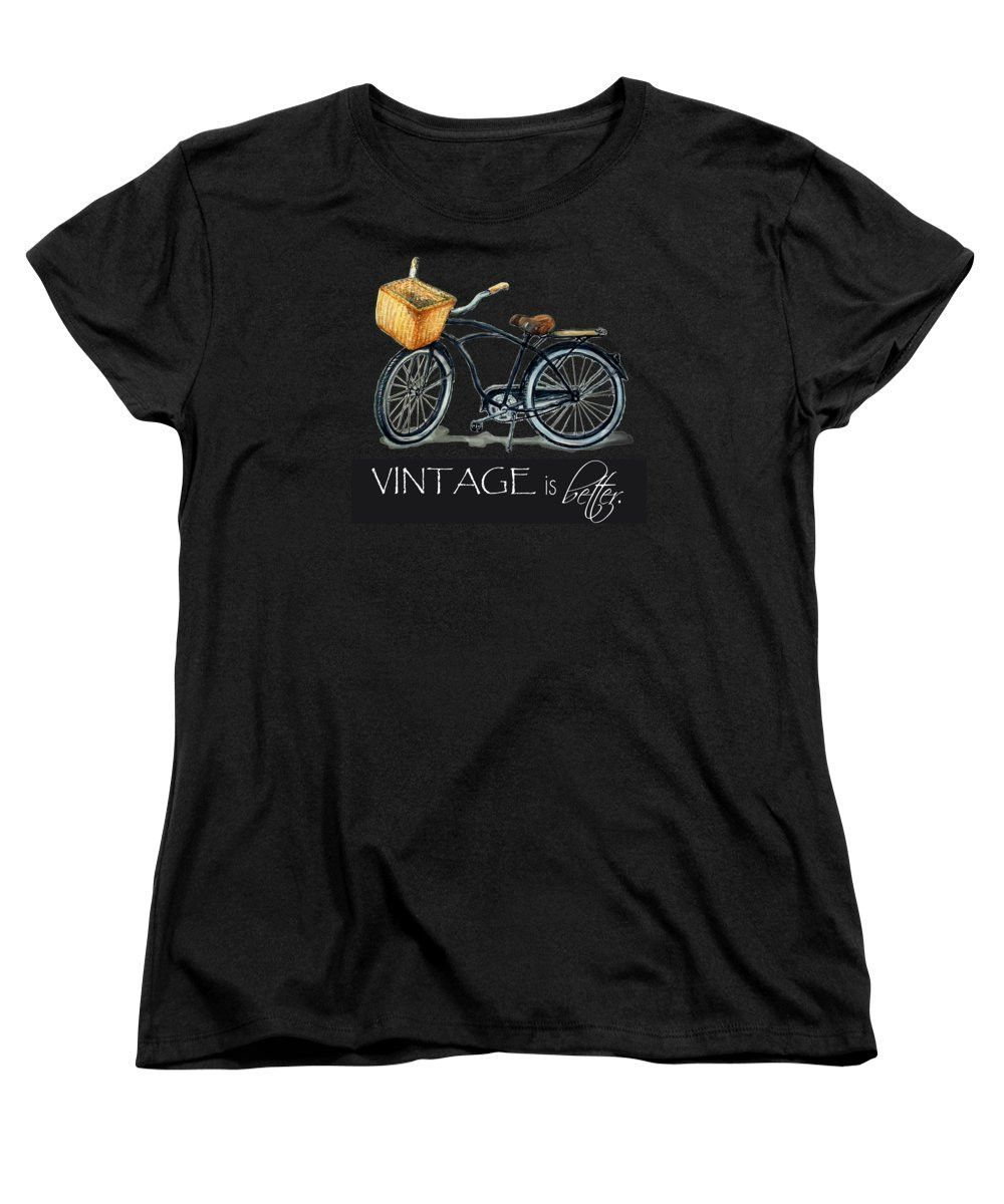 Bike T-Shirt Graphics | Graphic Apparel - Hand-Painted Vintage Bike