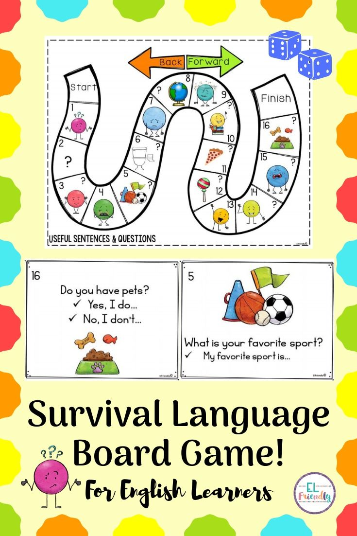 Survival Language Board Game ESL Beginner This is an easy to use resource to teach your English Lea