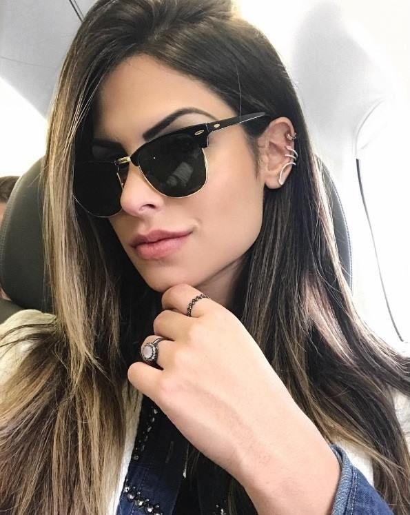 A linda  julianunesbarboza sempre arrasa na escolha dos óculos! Um clássico  que não pode faltar em sua coleção! ❤  oticaswanny  rayban   raybanclubmaster ... 652d9df09b