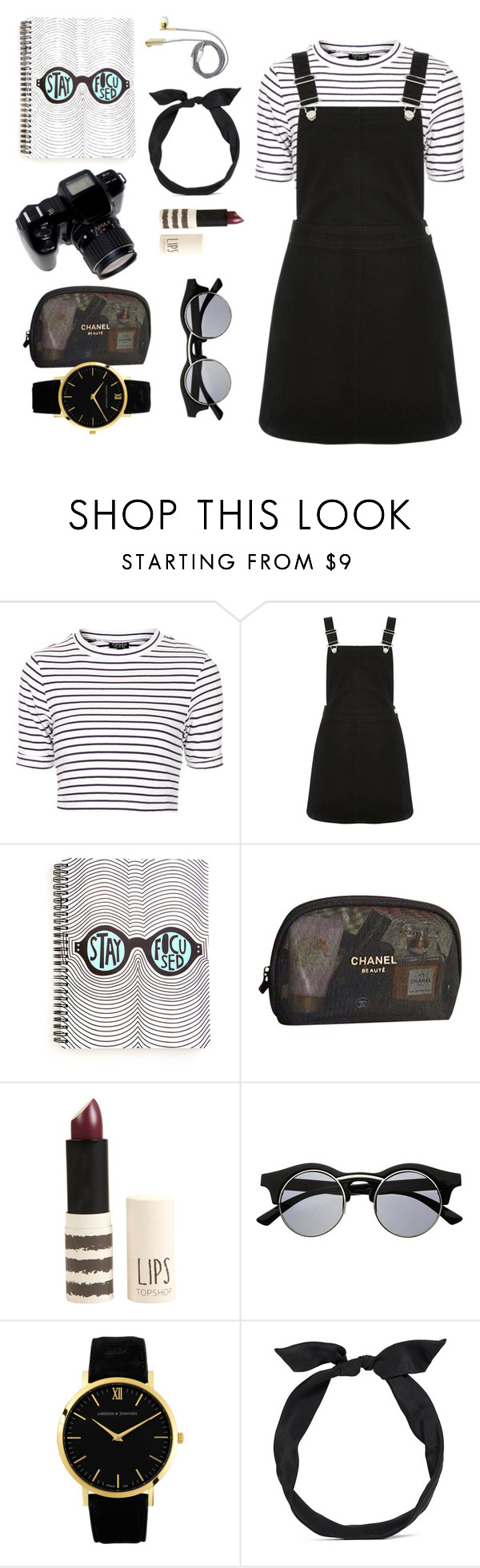 """""""I write stories with tradegies."""" by sophie-fogelmanis ❤ liked on Polyvore featuring Topshop, Oasis, Chanel, Retrò, Larsson & Jennings and yunotme"""