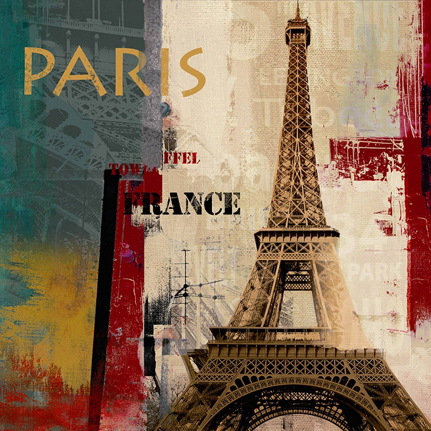 Yosemite Home Decor Ya100194b Les Paris Hand Painted Abstract Wall