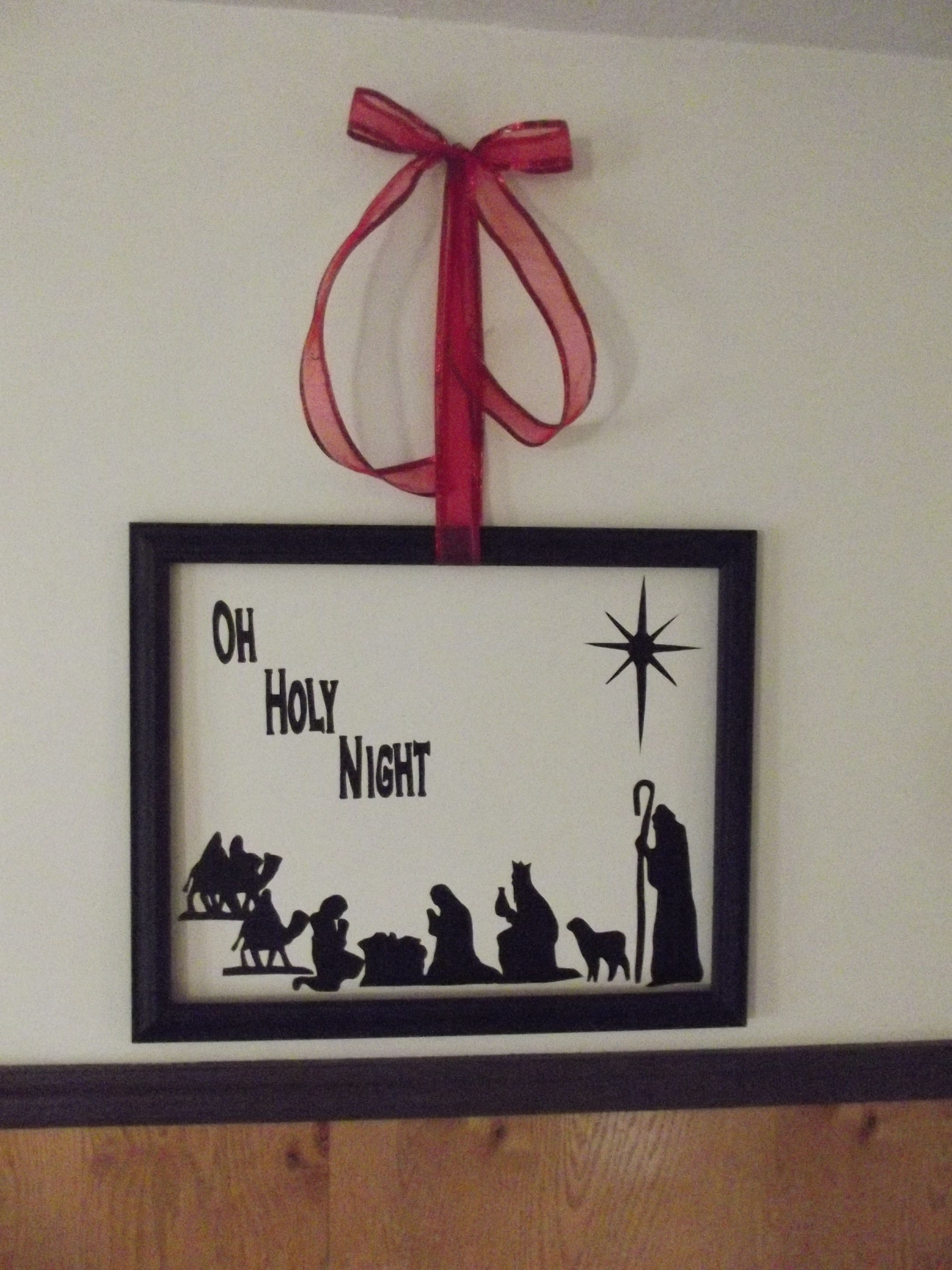 Vinyl Nativity Wall Art