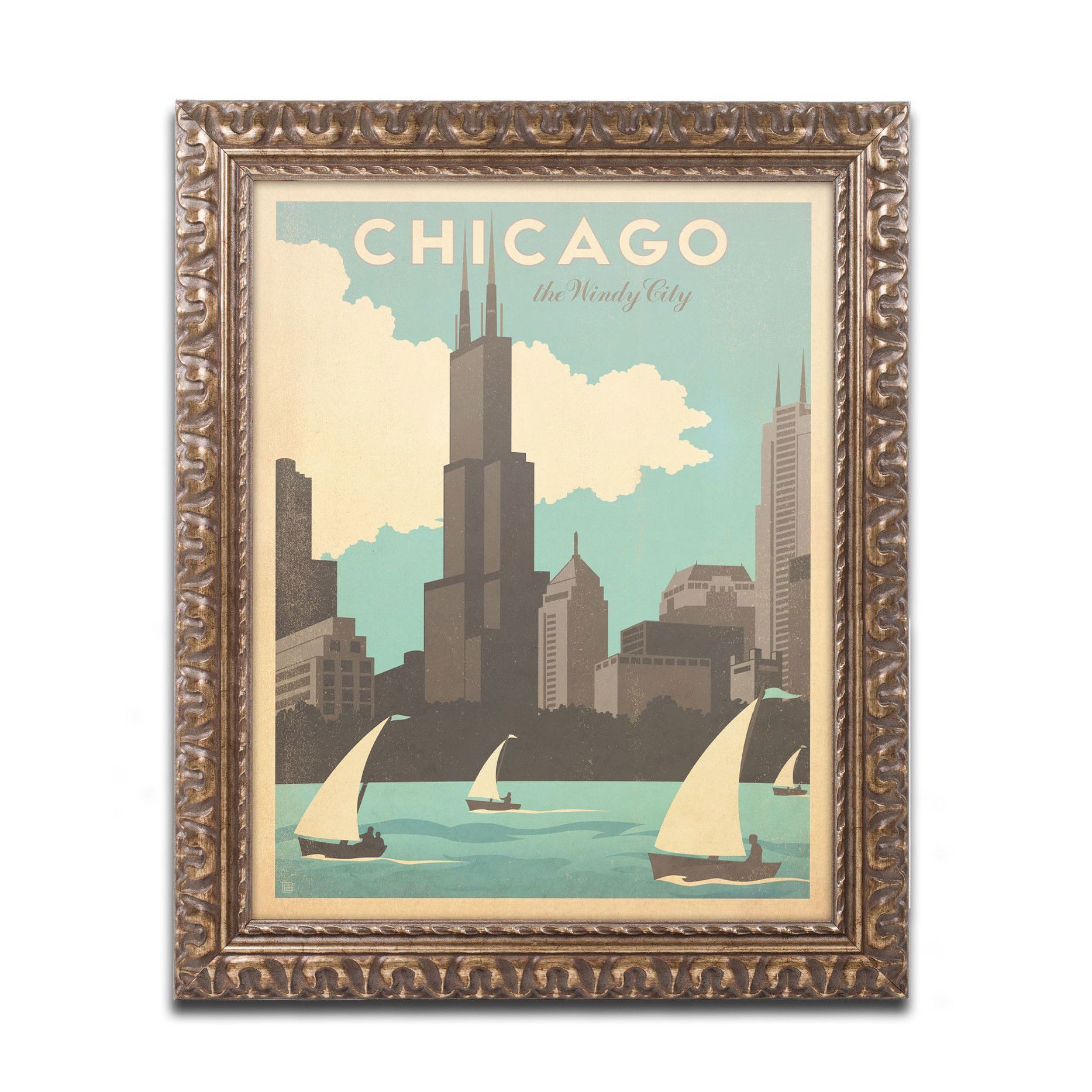 Chic Windy City by Anderson Design Group Framed Graphic Art