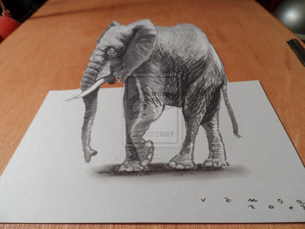3 D Elephant High Resolution