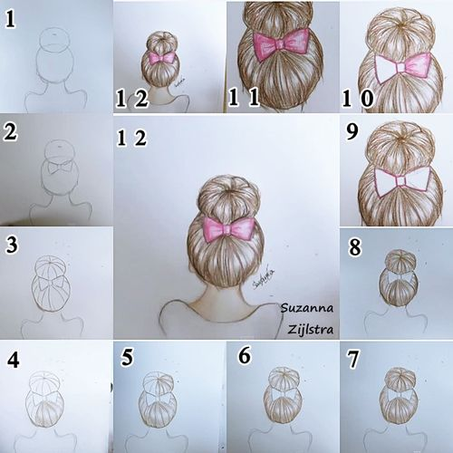 How To Draw A Bun How To Draw Hair Drawings Pencil Drawings