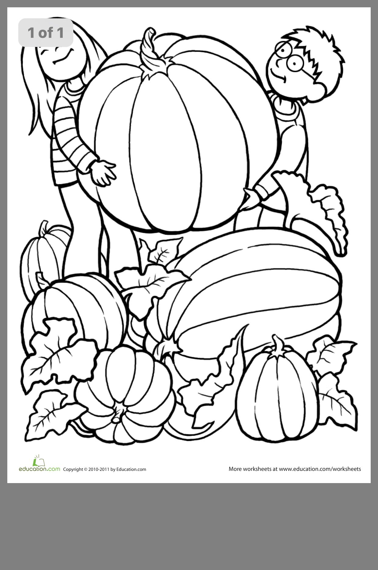 Pin By Alexis Kelben On Kids Crafts Fall Coloring Pages Pumpkin